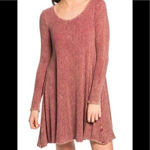 PPLA Clothing Garnet Waffle Weave Swing Dress